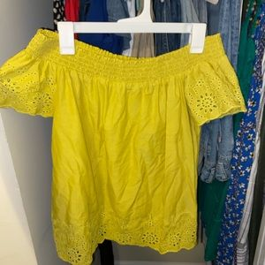 Old navy off the shoulder top size small
